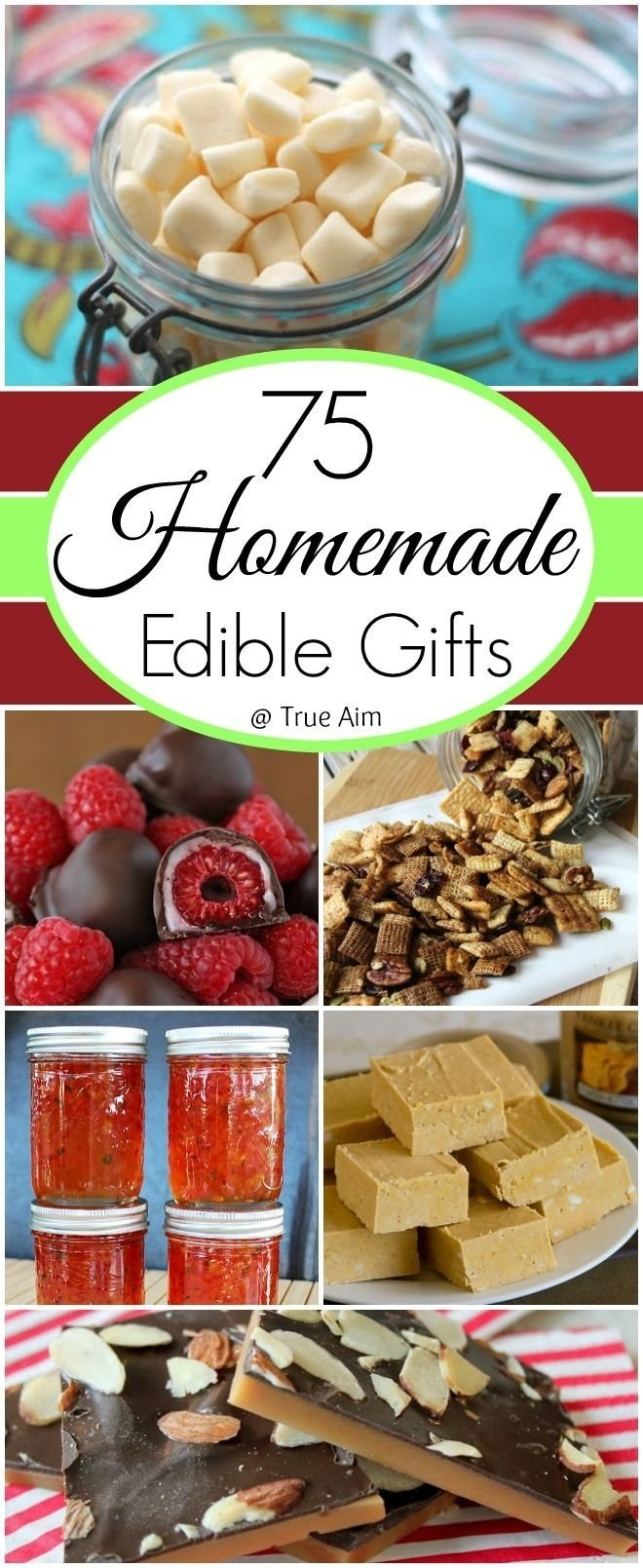 10 Famous Homemade Edible Christmas Gift Ideas 75 ideas for homemade edible gifts gifts in jars homemade truffles 2021
