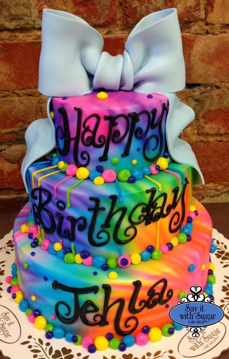 10 Most Recommended Tie Dye Birthday Party Ideas 7b5272ba1205bd880e50c59b7ba920a9 girls th birthday cake tie dye