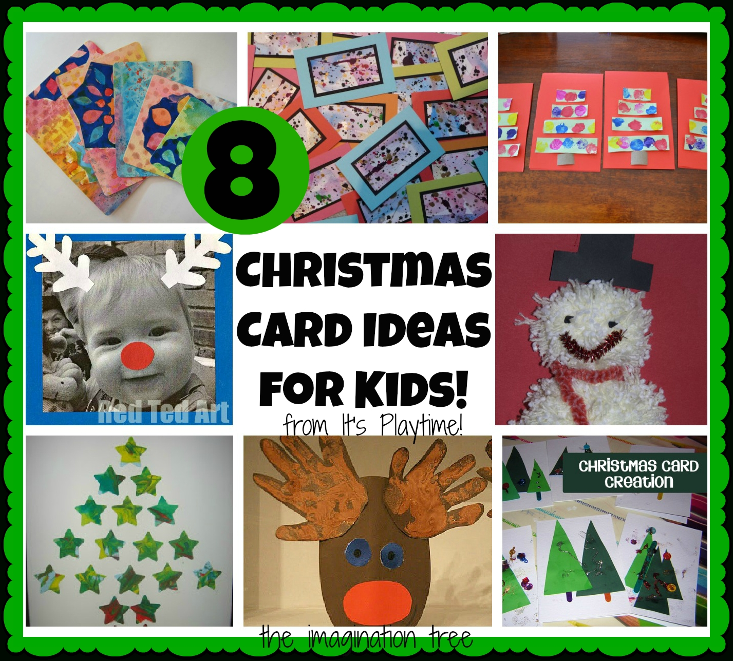 10 Fashionable Christmas Card Picture Ideas Kids 8 christmas cards kids can make its playtime the imagination tree 3 2020