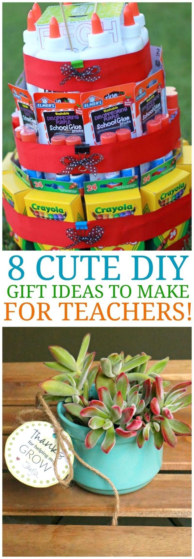 10 Best Teacher Appreciation Homemade Gift Ideas 8 cute diy teacher appreciation ideas homemade gifts for teachers 2020