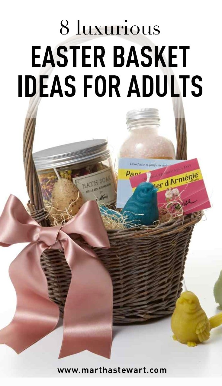 8 luxurious easter basket ideas for adults | basket ideas, live long