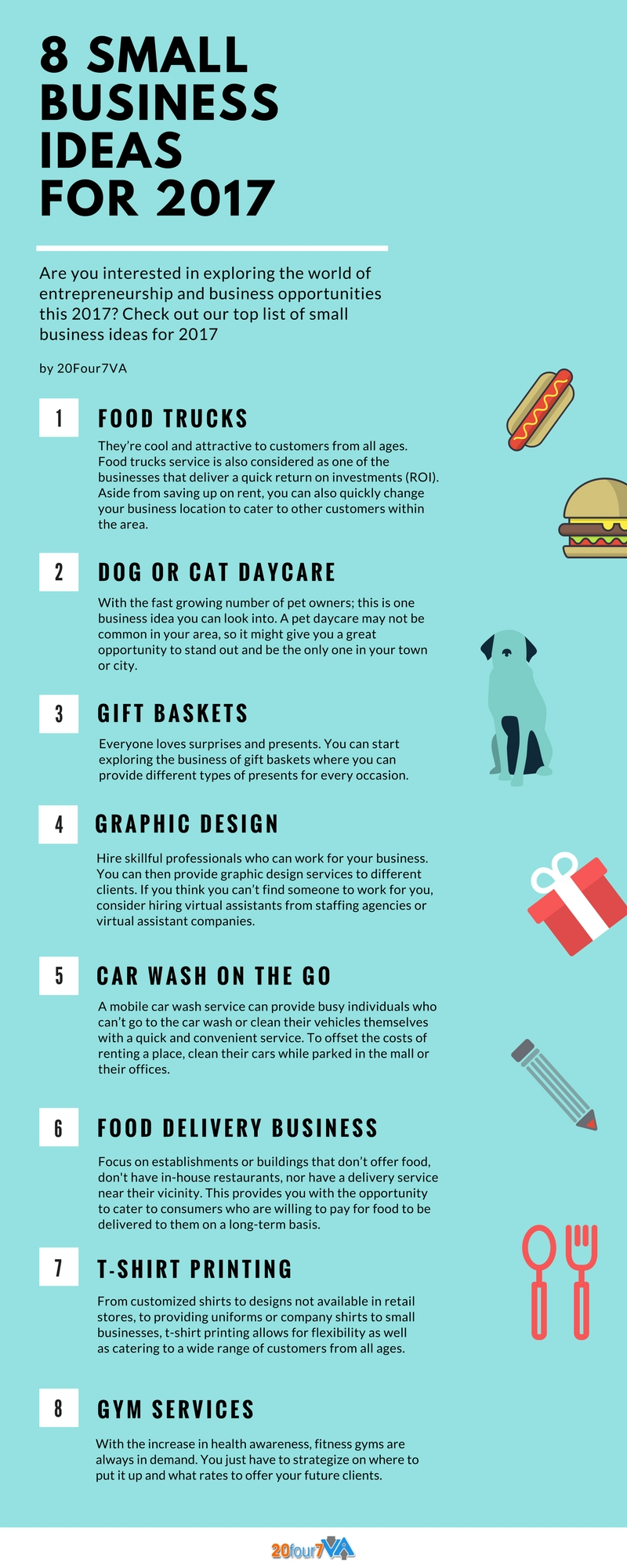 10 Awesome Ideas For A Small Business 8 small business ideas for 2017 20four7va 1