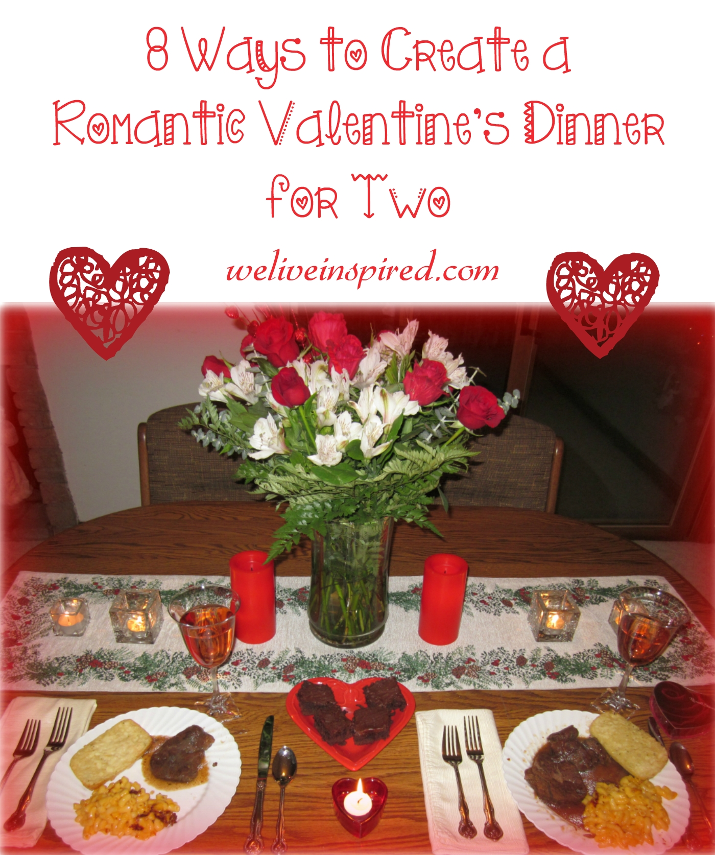 10 Wonderful Romantic Dinner For Two Ideas 8 ways to create a romantic valentines day dinner for two we live 1