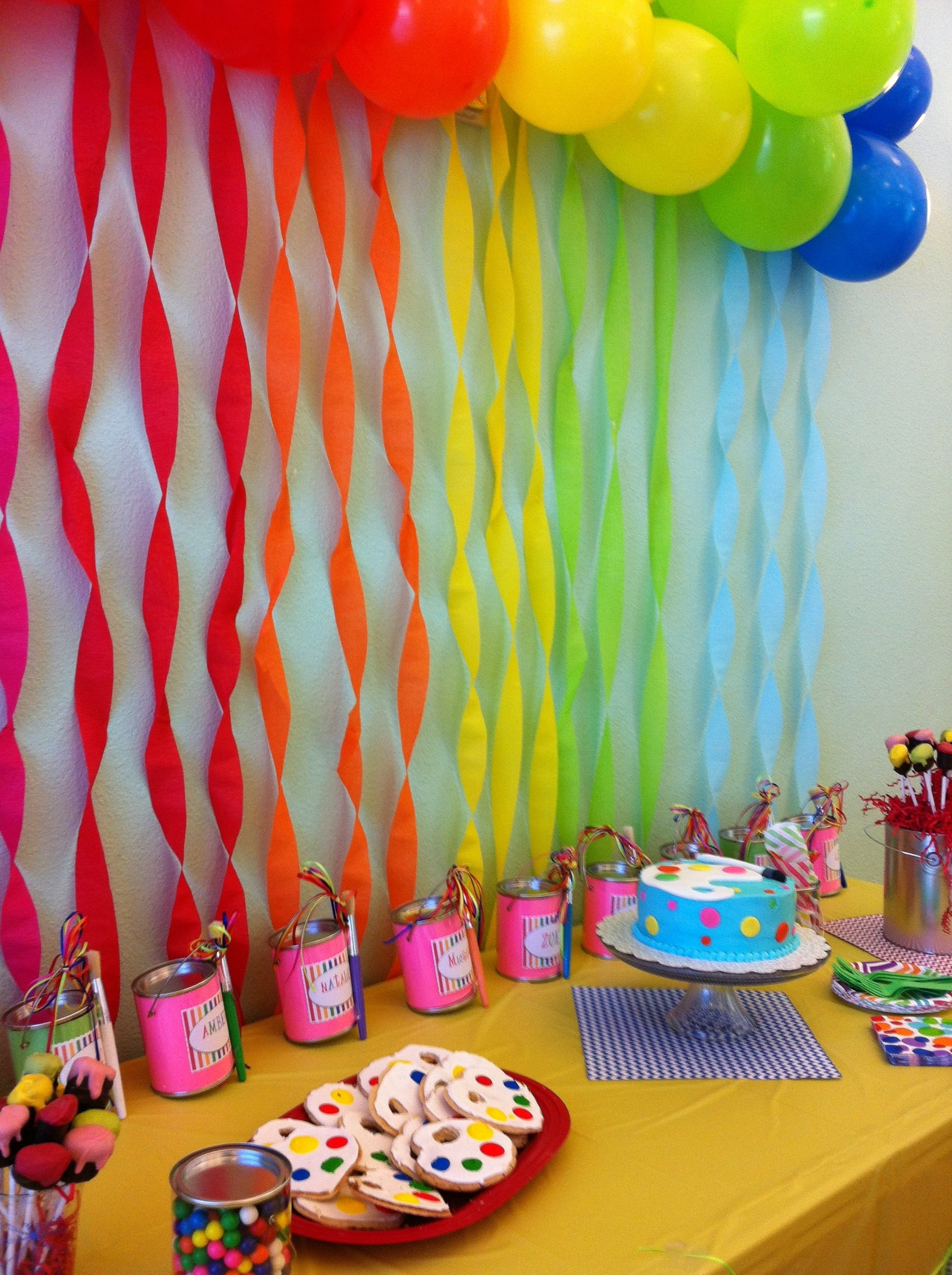 10 Cute Ideas For A 1 Year Old Birthday Party 8 year old girl birthday art party art party pinterest art 49