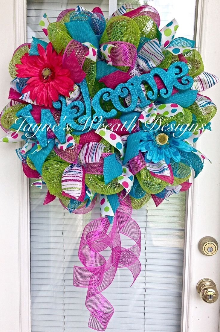 10 Fabulous Spring Deco Mesh Wreath Ideas 80 best all things spring and summer images on pinterest floral 2020