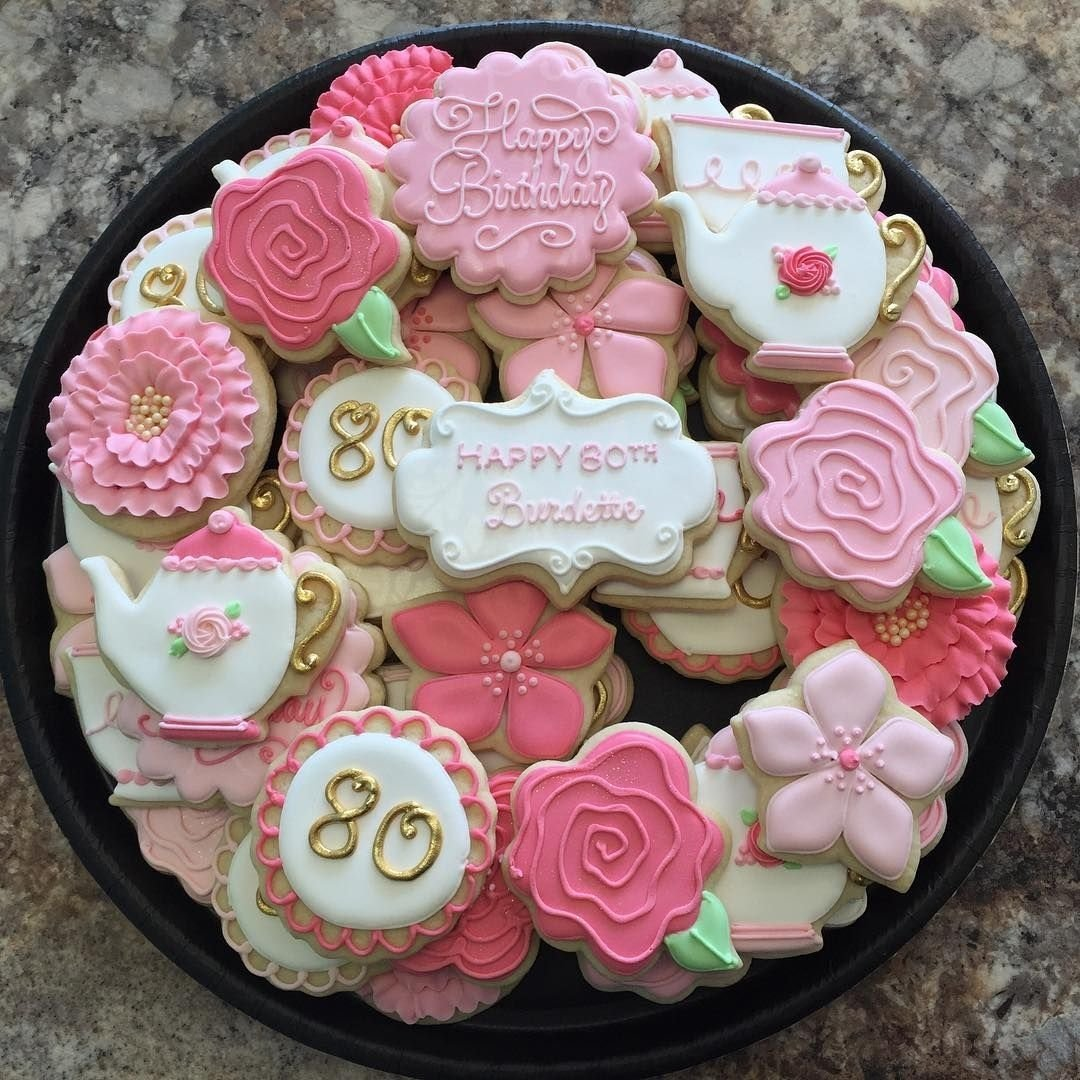 10 Ideal 80Th Birthday Ideas For Mom 80th Cookies Sweet Burdette Party Decorations