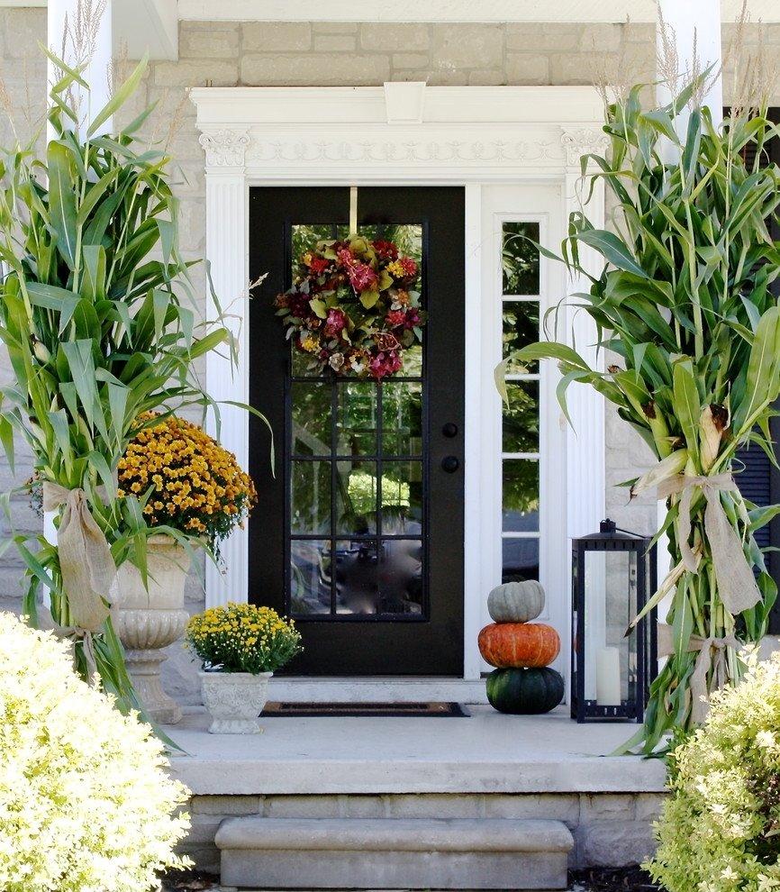 10 Cute Fall Front Porch Decorating Ideas 85 pretty autumn porch decor ideas digsdigs 1 2020