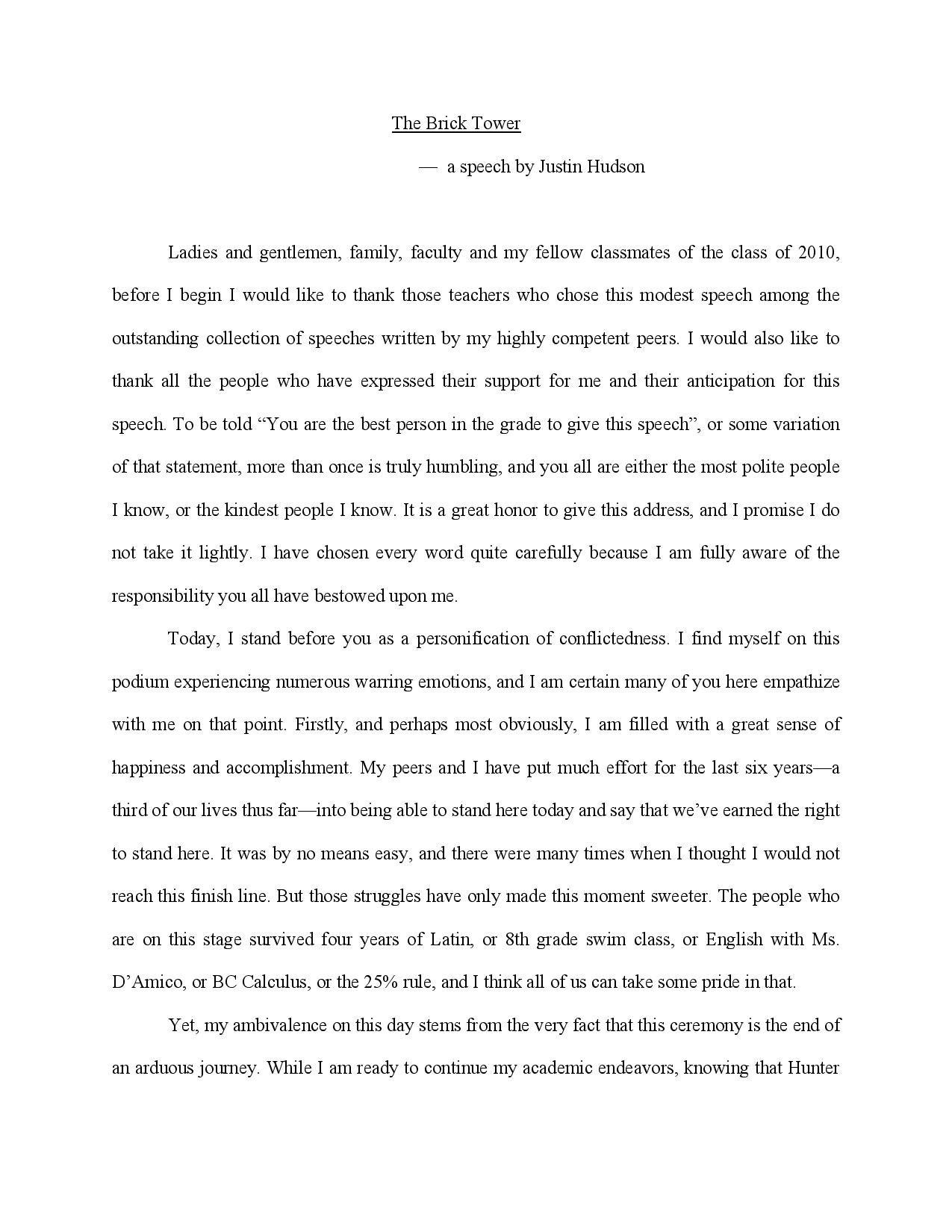 10 Gorgeous 8Th Grade Graduation Speech Ideas 9 school speeches examples samples in pdf 2021