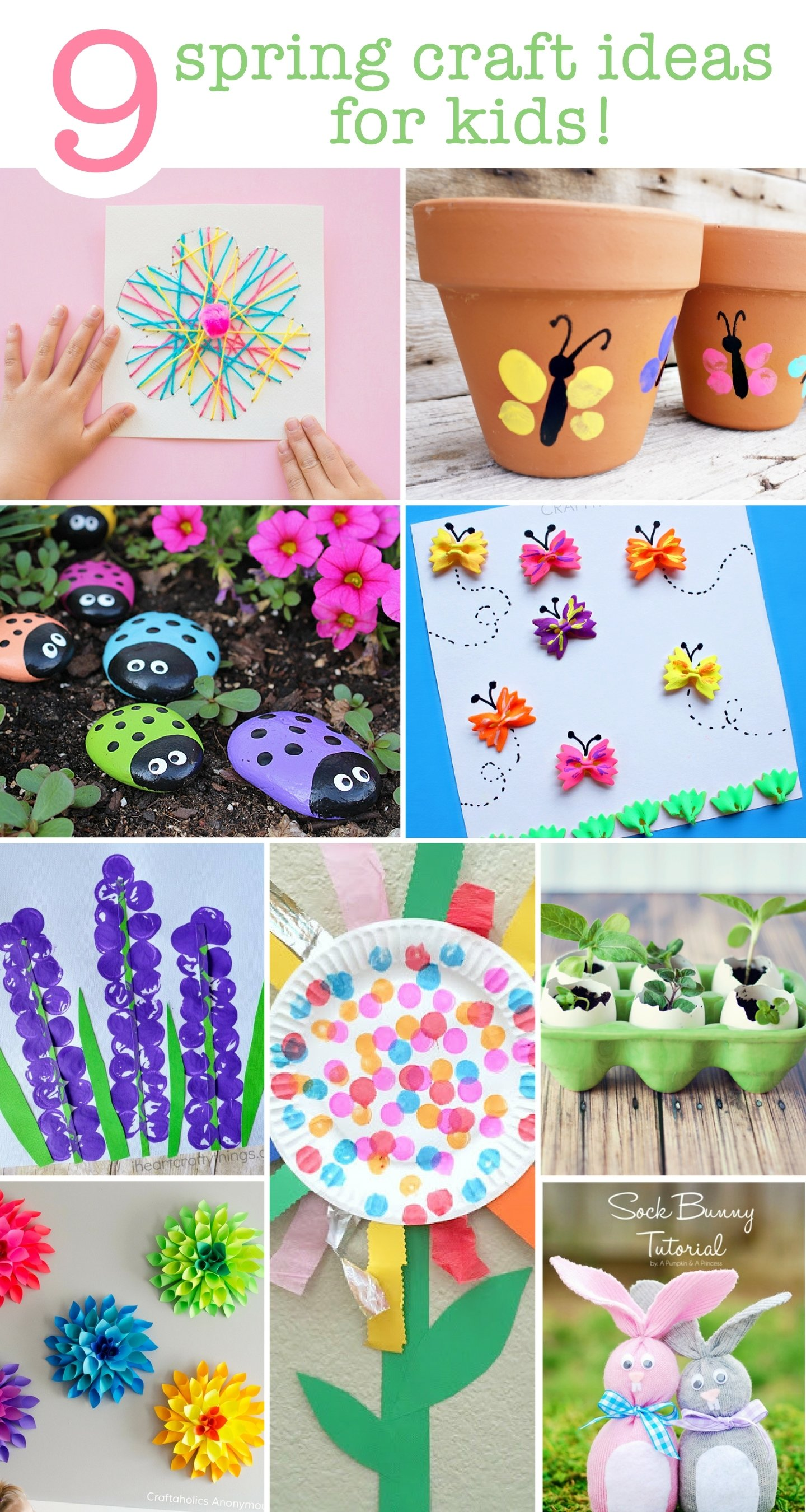 9 spring craft ideas for the kids | save this list!