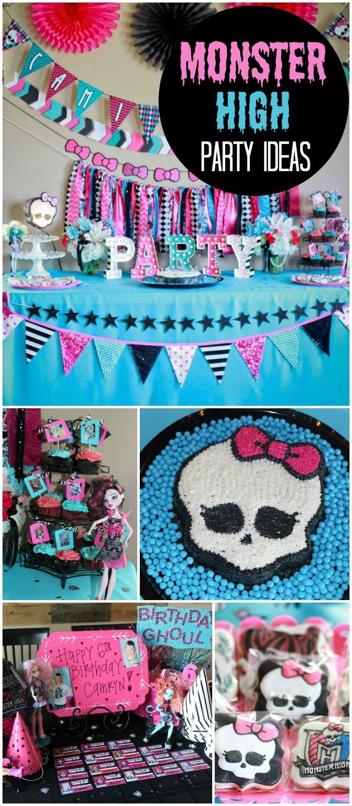 10 Fabulous Monster High Ideas For Birthday Party 91 best monster high party ideas images on pinterest monster high 2020