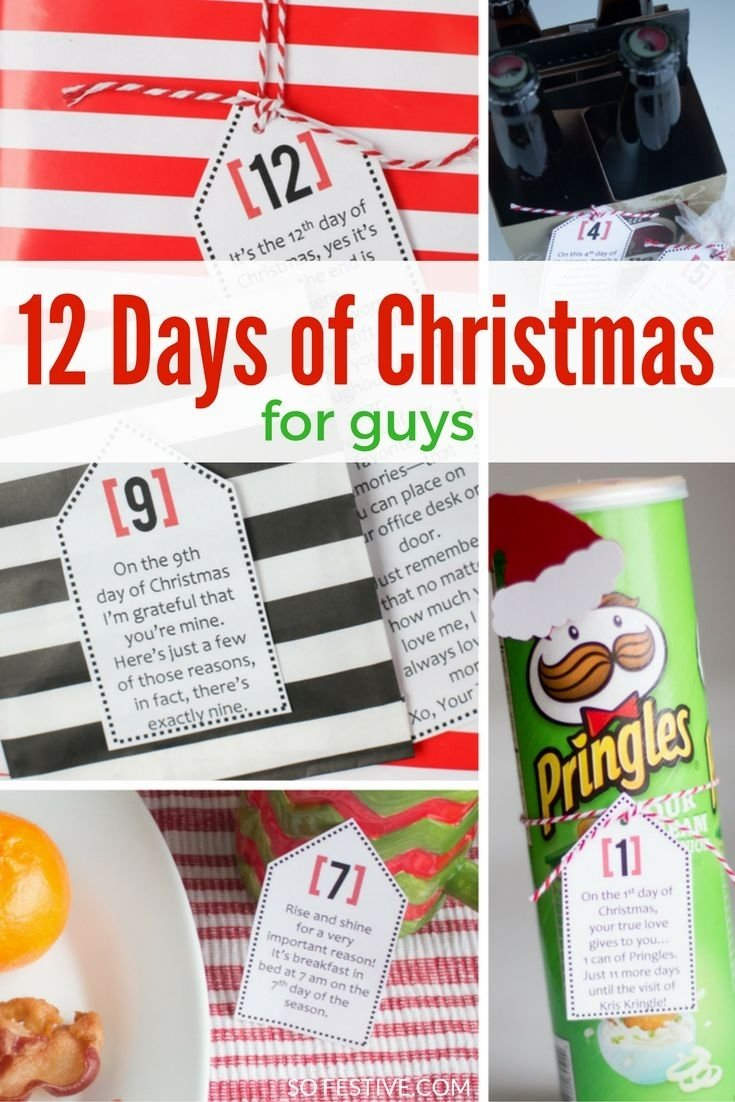 twelve days of christmas gift ideas for him