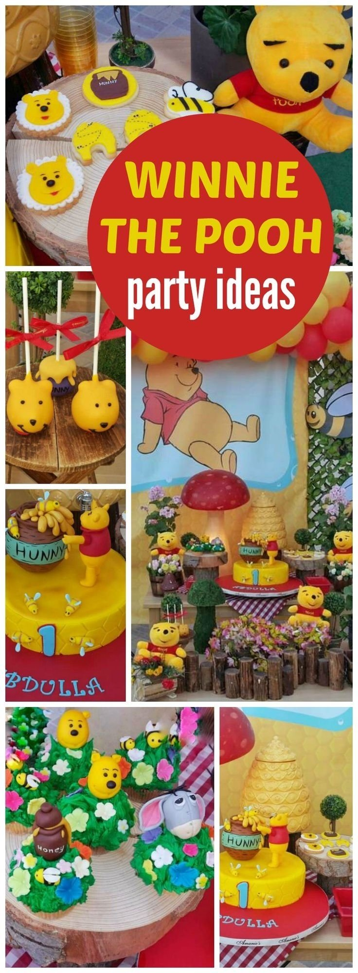 10 Pretty Winnie The Pooh Birthday Party Ideas 94 best winnie the pooh party ideas images on pinterest pooh bear