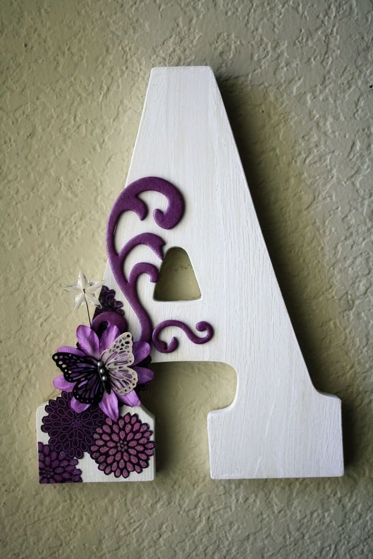 10 Fashionable Ideas For Decorating Wooden Letters 99 best initials images on pinterest decorative lettering hidden 2020