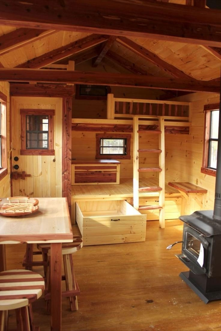 10 Beautiful Small Cabin Interior Design Ideas 99 best wooden cabin interior images on pinterest home ideas 2020
