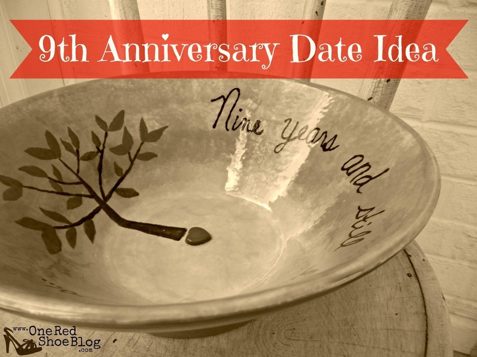 9th anniversary - pottery (idea for anniversary date night