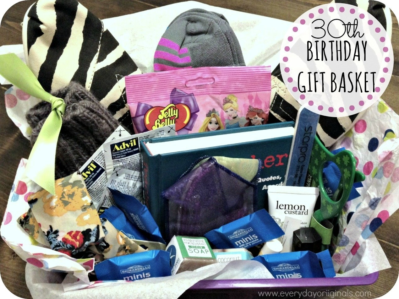 10 Cute 30Th Bday Ideas For Her a 30th birthday gift basket 3 2020