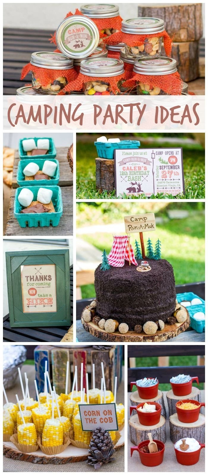 10 Most Popular Boys 8Th Birthday Party Ideas a backyard camping boy birthday party with fun foods smores mason 2020