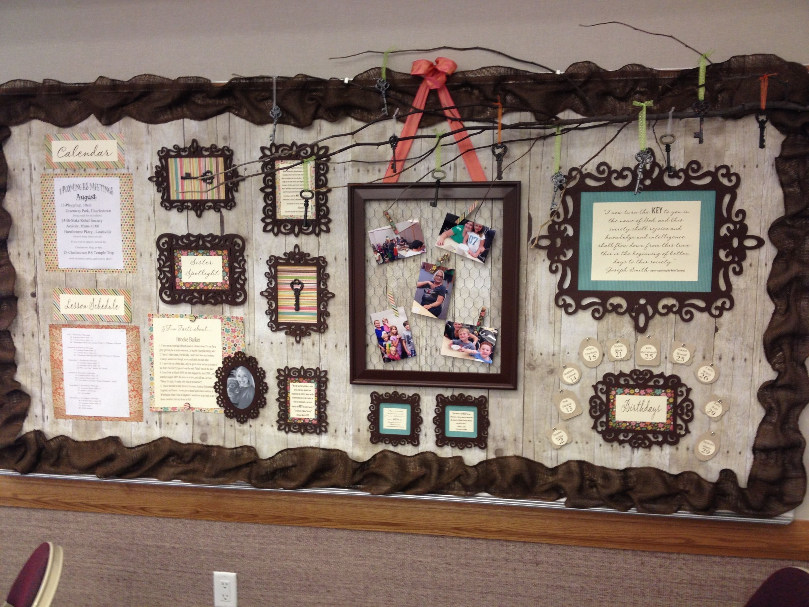 10 Ideal Relief Society Bulletin Board Ideas a beautiful rs bulletin board in the charlestown in ward created 2020