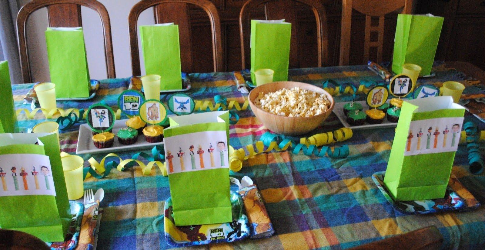 10 Attractive Boys 10Th Birthday Party Ideas a ben 10 birthday party beatnik kids 1 2021