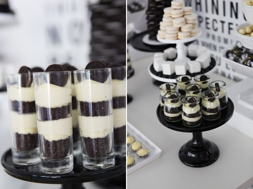 10 Perfect Black And White Food Ideas a black and white 40th birthday dessert table party ideas games 2020