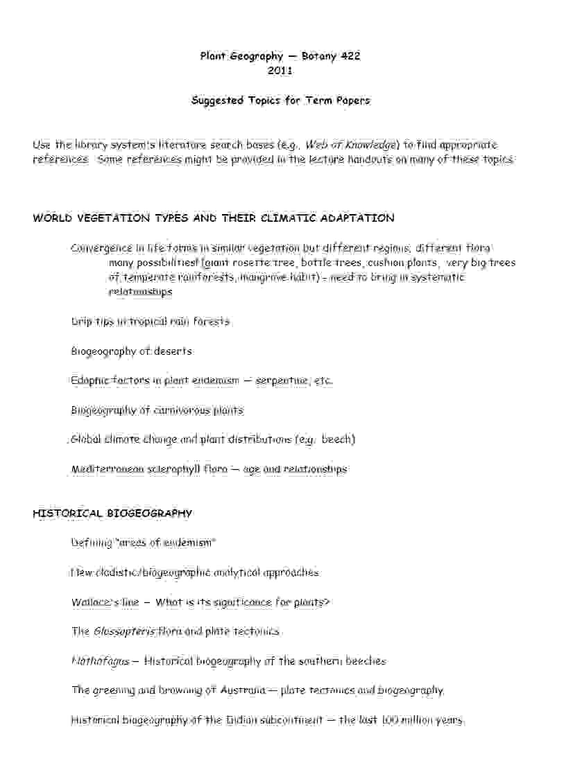 interesting ideas for research paper topics