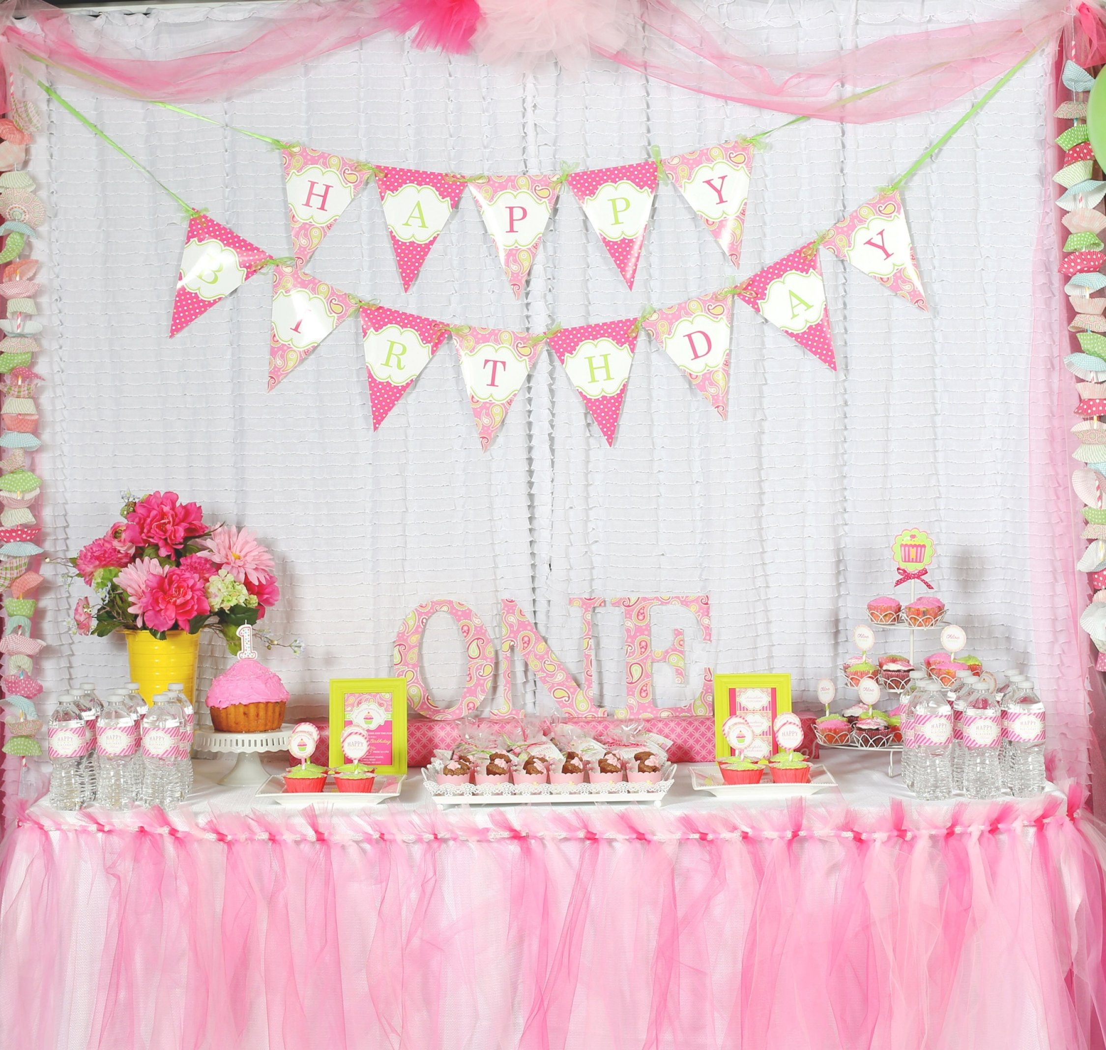 10 Attractive 1St Girl Birthday Party Ideas a cupcake themed 1st birthday party with paisley and polka dots 3 2020