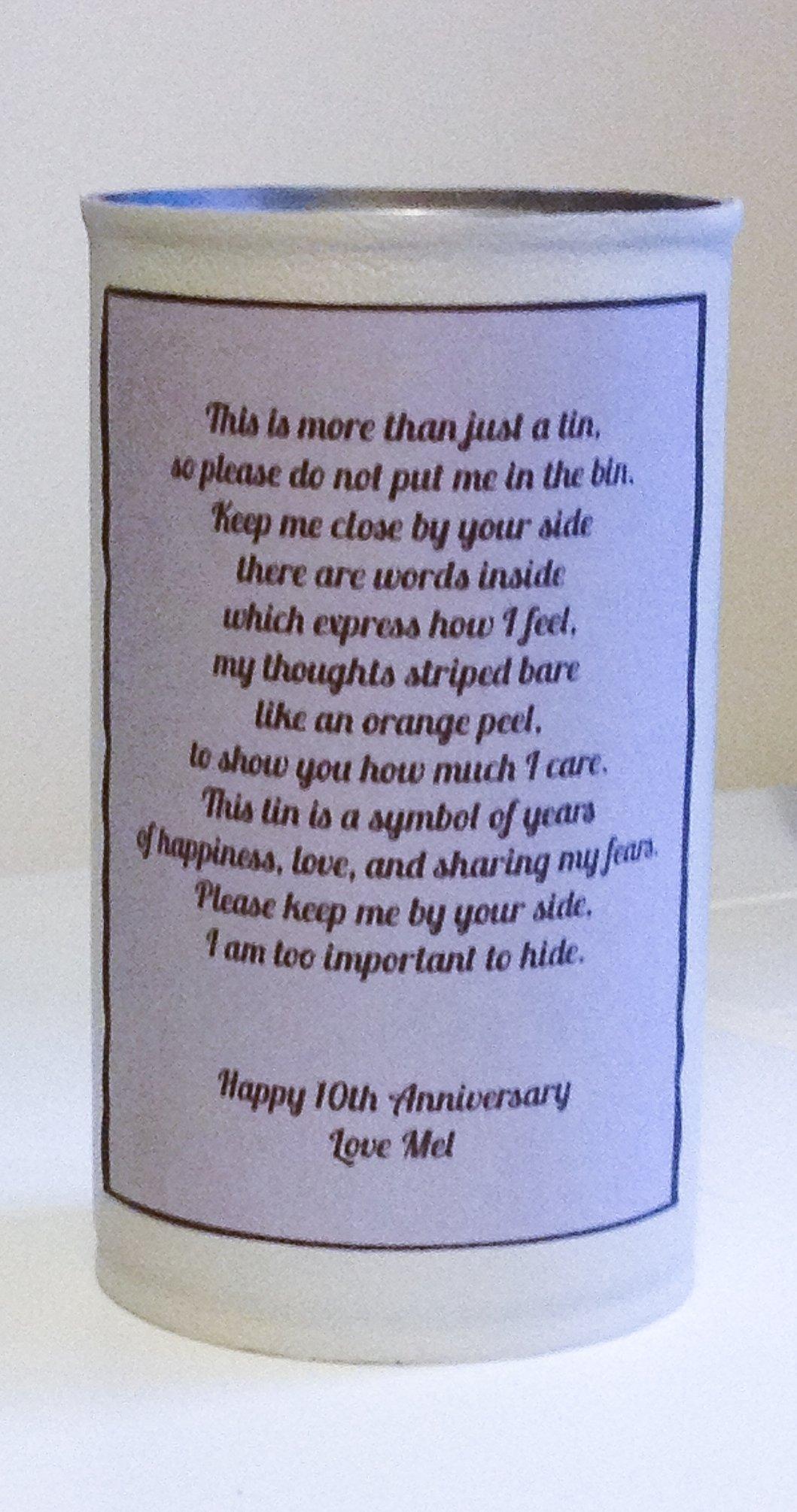 10 Fabulous 10Th Anniversary Gift Ideas For Him a diy 10th anniversary gift theoriginalthread 2 2020