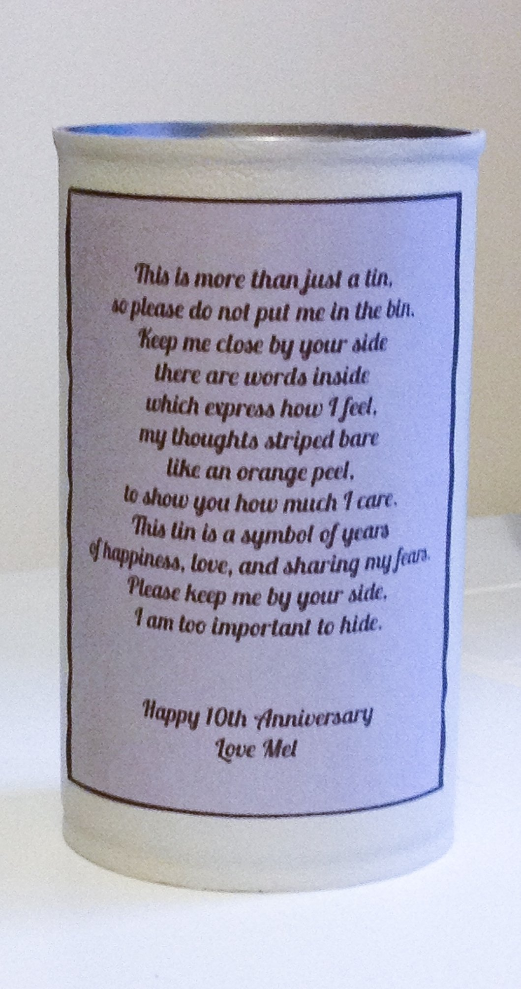 10 Awesome 10Th Anniversary Ideas For Him a diy 10th anniversary gift theoriginalthread 2020