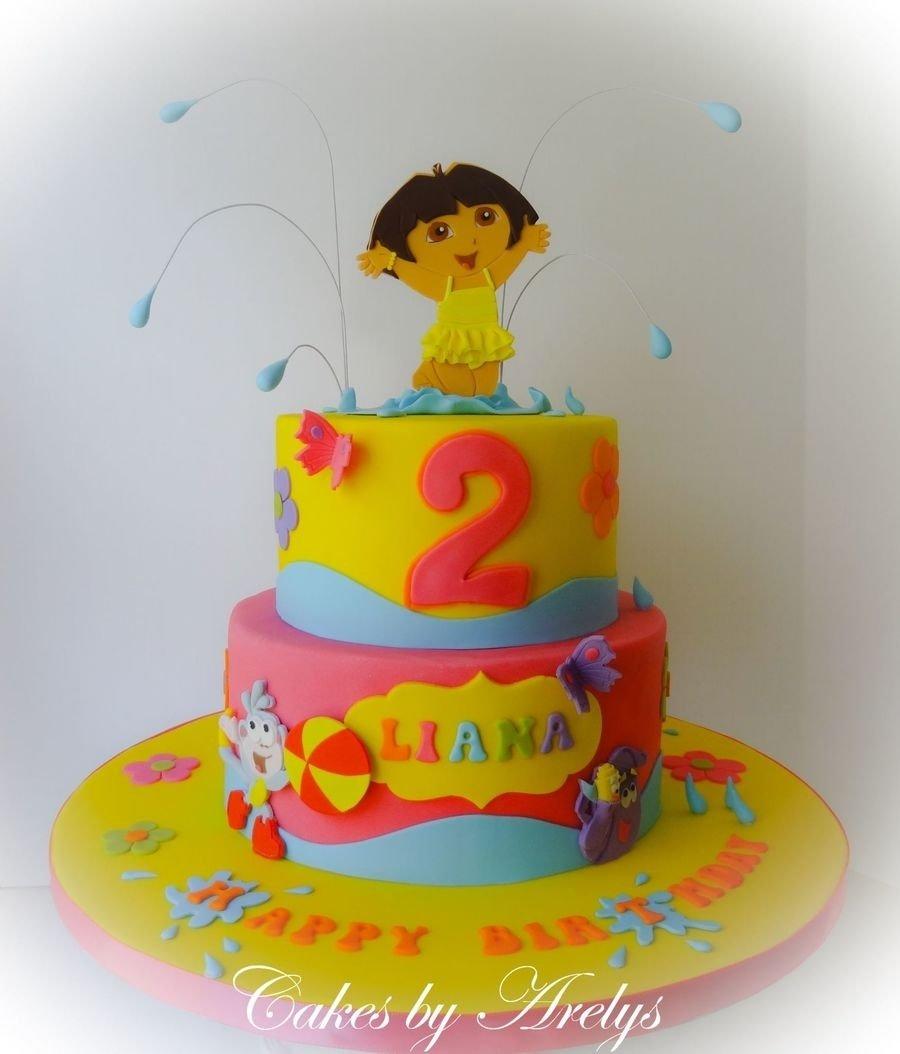 10 Awesome Dora The Explorer Cake Ideas a dora the explorer cake cakecentral 2021