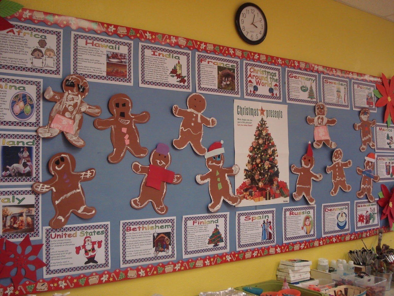 10 Perfect Gingerbread Man Bulletin Board Ideas a faithful attempt kindergarten gingerbread men 2020