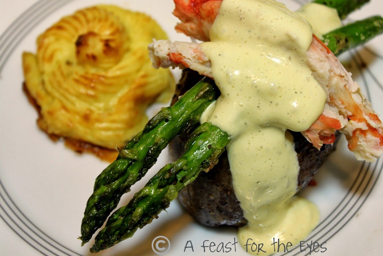 10 Trendy Surf And Turf Menu Ideas a feast for the eyes surf turf steak oscar with duchess potatoes 2020