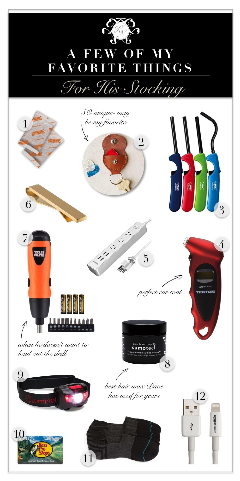 10 Fabulous Stocking Stuffers For Men Ideas a few of my favorite things a stocking stuffer gift guide for him 1 2020