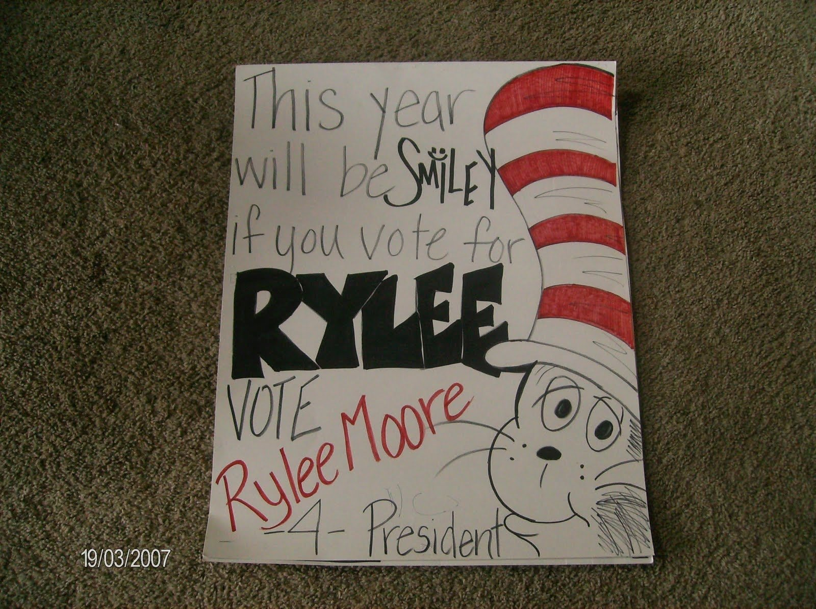10 Lovely Campaign Ideas For Student Council a few of my favorite things rylee for president 2020