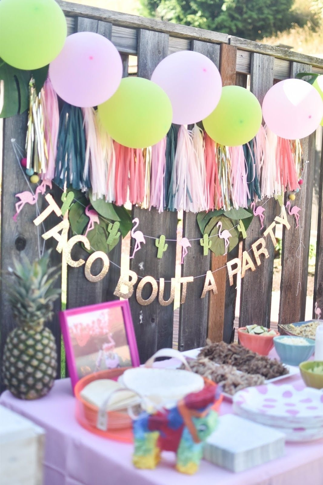 10 Pretty Birthday Party Ideas For 15 Yr Old Girl a flamingesta a flamingle and a fiesta in one taco bout a party