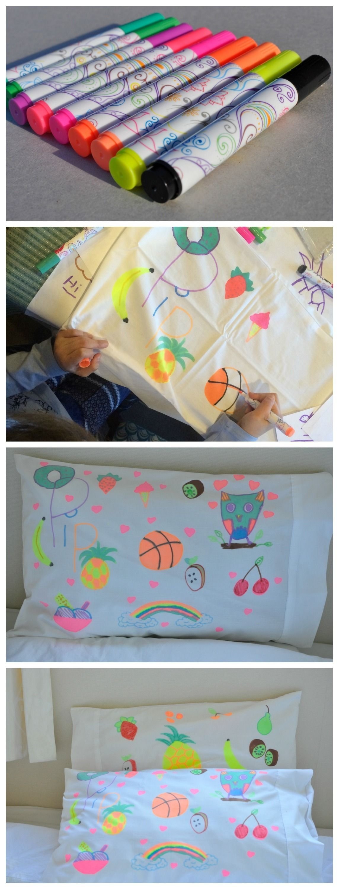 10 Fantastic Fun Ideas For A Sleepover a fun activity for kids design your own pillow case education
