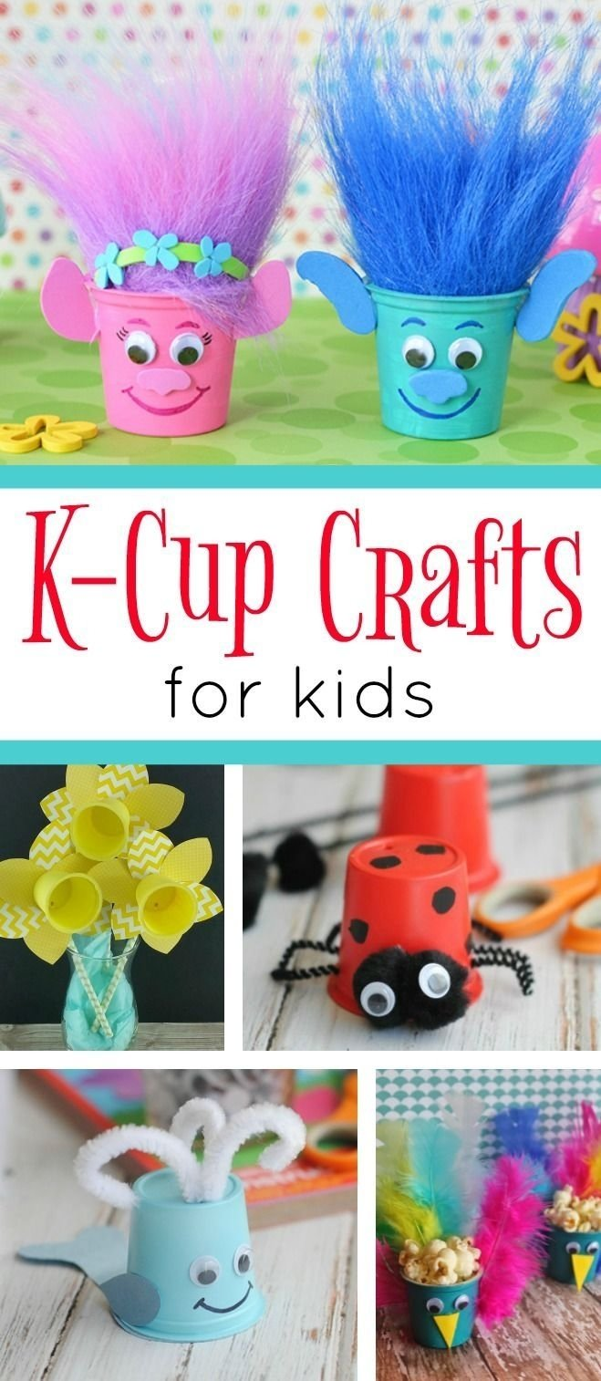 10 Nice Cute Arts And Crafts Ideas a fun collection of k cup crafts for kids these cute and easy craft