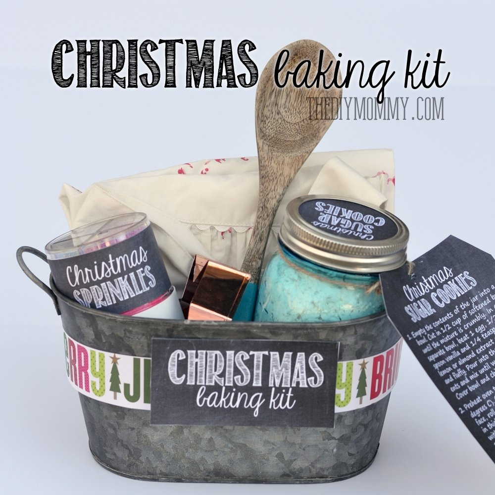 10 Cute Homemade Gift Basket Ideas For Christmas a gift in a tin christmas baking kit the diy mommy 2 2020