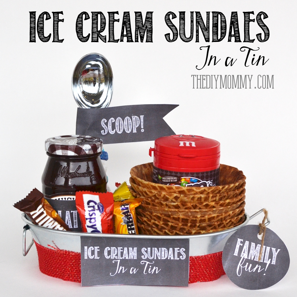 10 Trendy Ice Cream Gift Basket Ideas a gift in a tin ice cream sundaes in a tin the diy mommy 2020