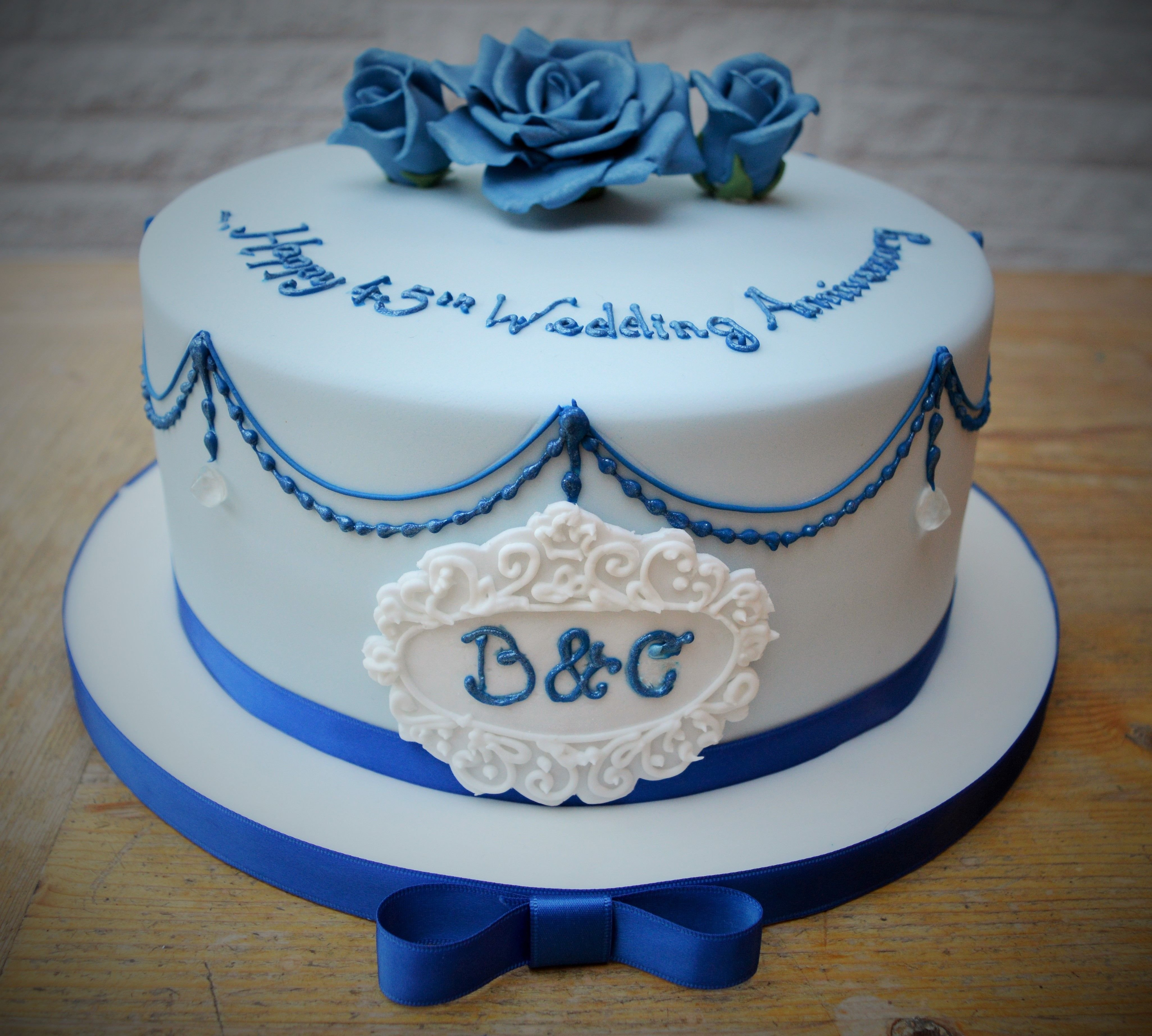 10 Famous 45Th Wedding Anniversary Party Ideas a gorgeously ornate 45th wedding anniversary cake sapphire ds 2021