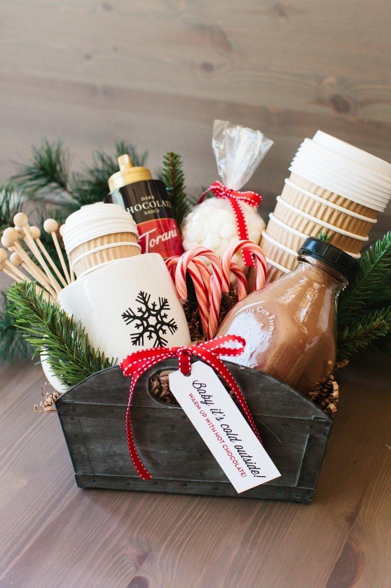 10 Great Homemade Holiday Gift Basket Ideas a homemade christmas gift hot cocoa gift basket 2020