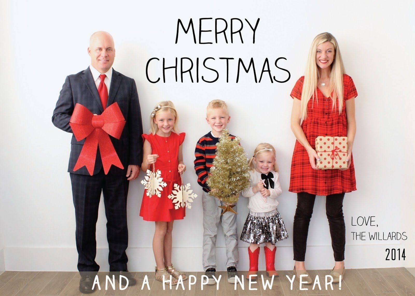 10 great funny family christmas card ideas a merry 2014 christmas card from our family to
