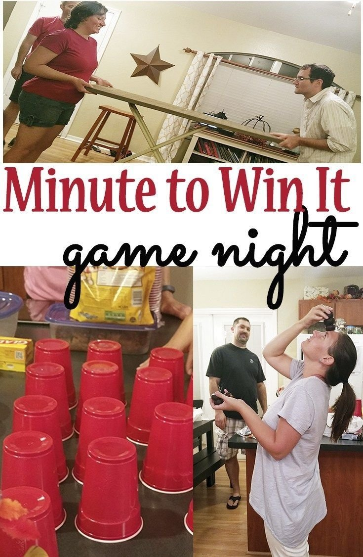 10 Fantastic Game Night Party Ideas For Adults a minute to win it game night idea for a kids party or a couples