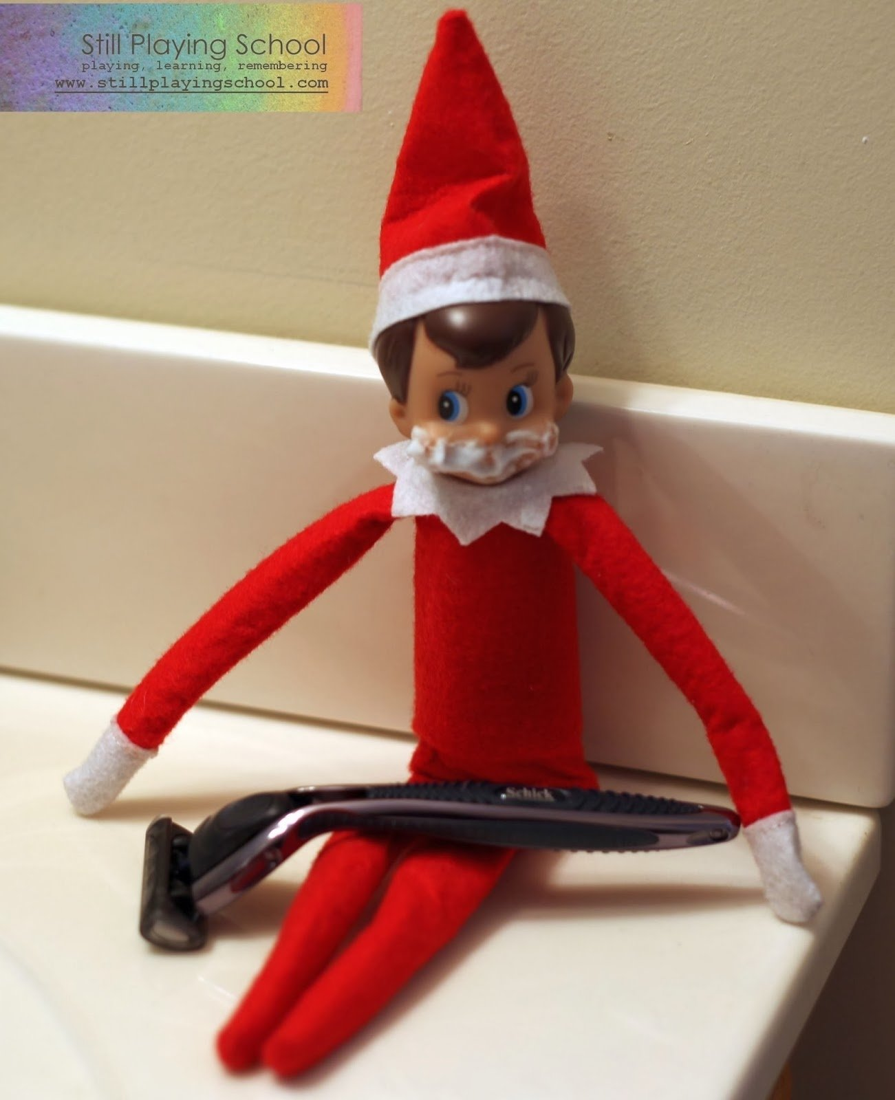 a month of elf on the shelf ideas | still playing school