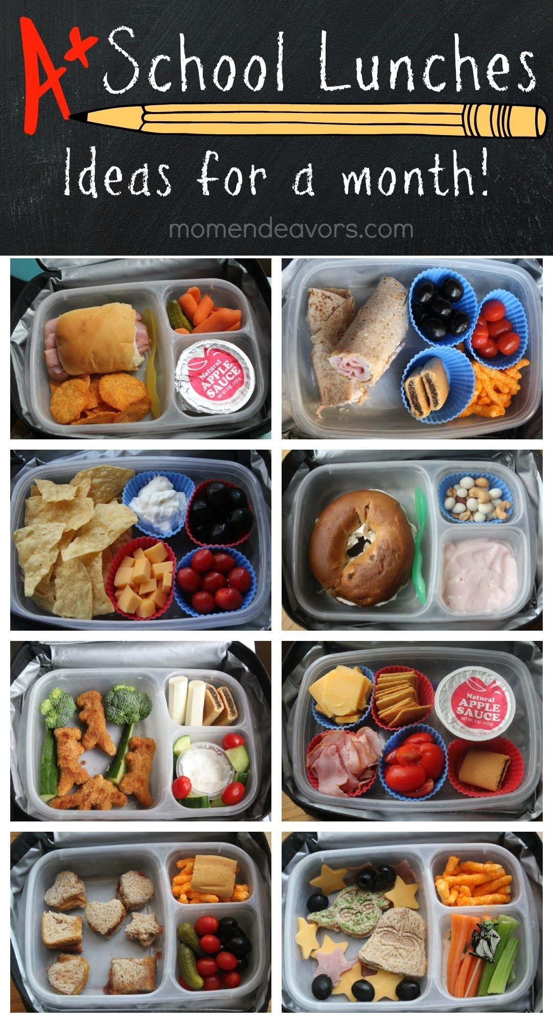 10 Perfect Ideas For Lunch At Home a month of kid approved school lunches easy creative ideas 1 2020