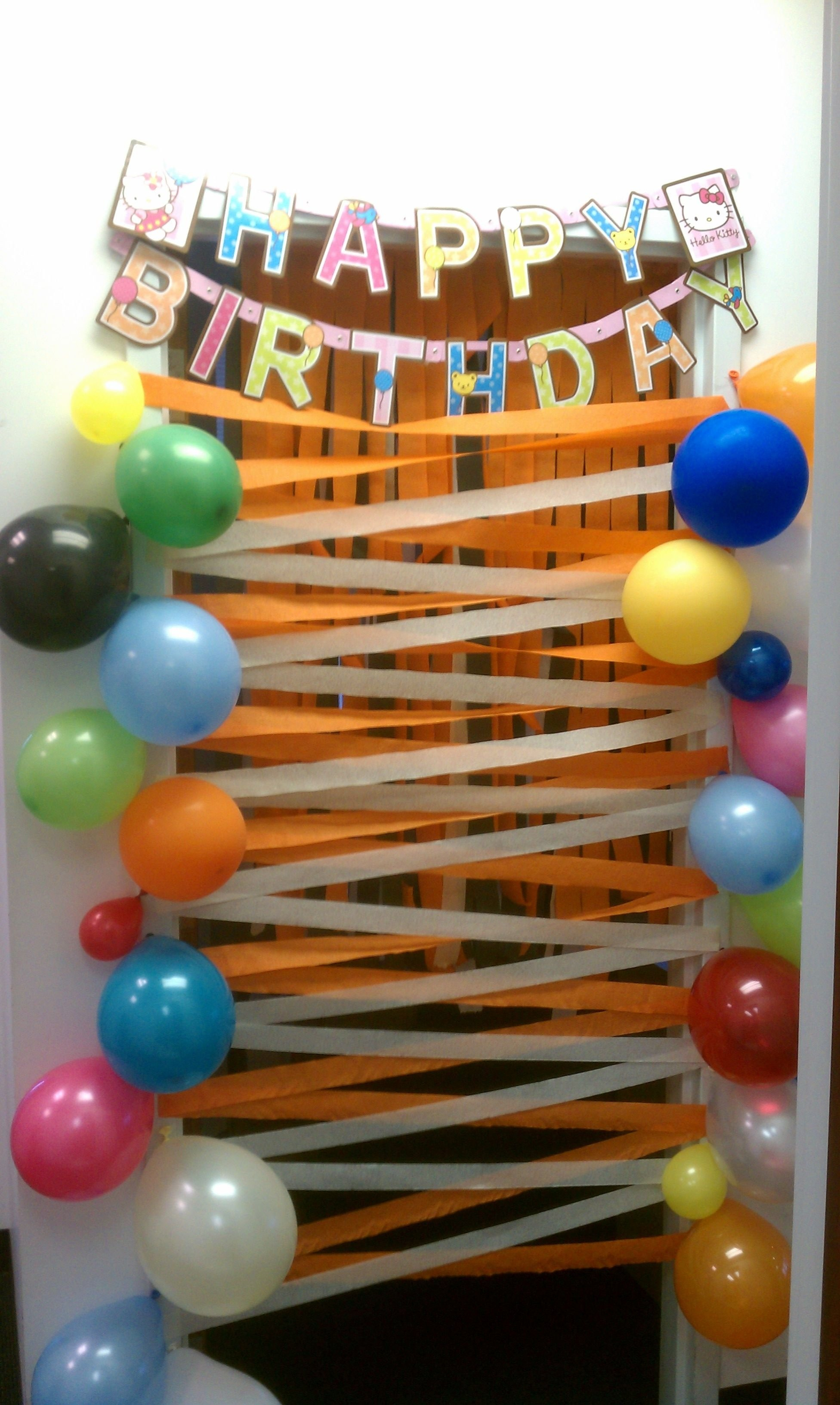 10 Spectacular Ideas For A Surprise Birthday Party a nice birthday surprise for my coworker birthday door decorations 3 2020