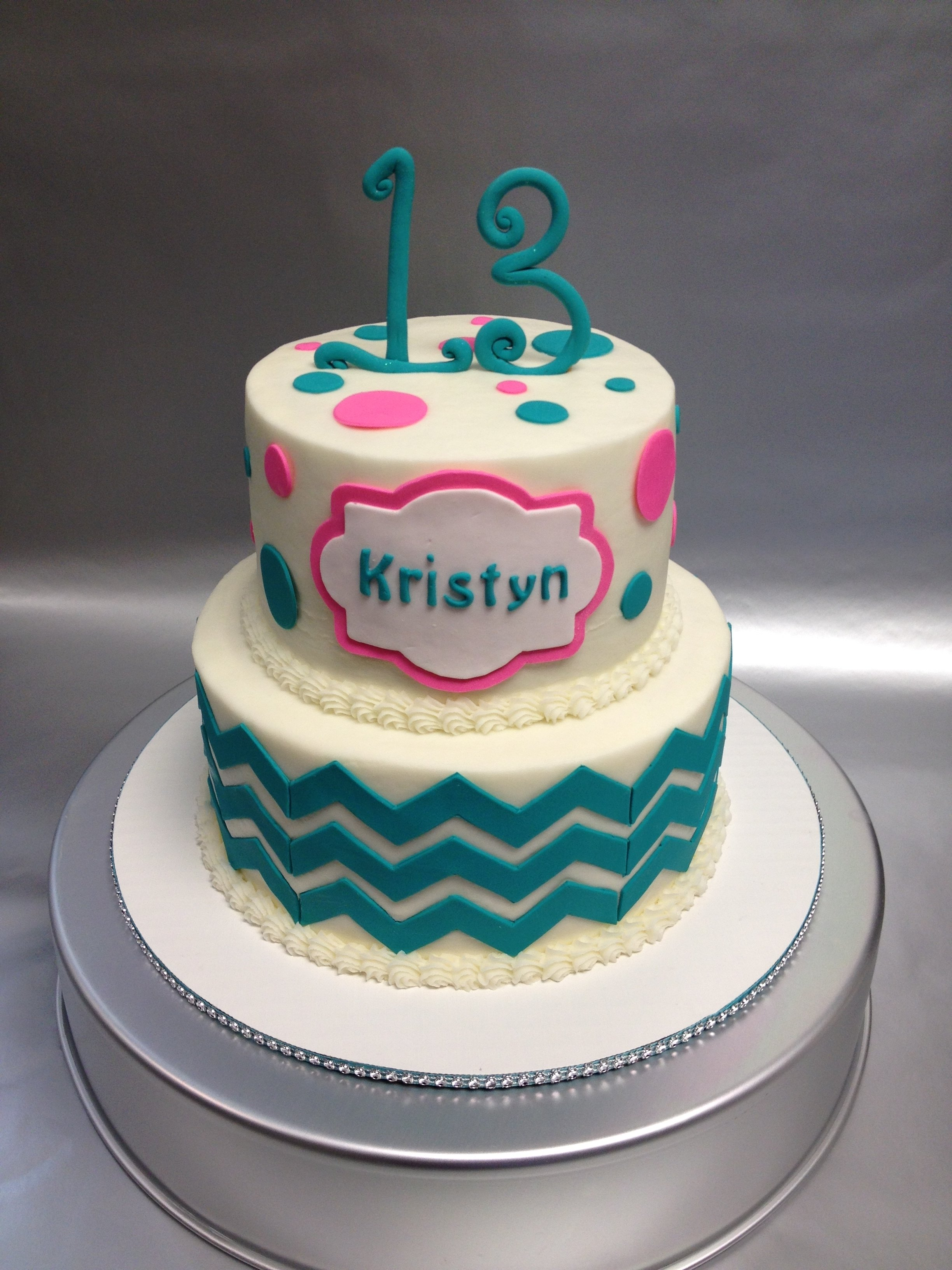10 Fantastic 14 Year Old Birthday Cake Ideas a pretty 2 tiered gluten free birthday cake design for 13 year old 2020
