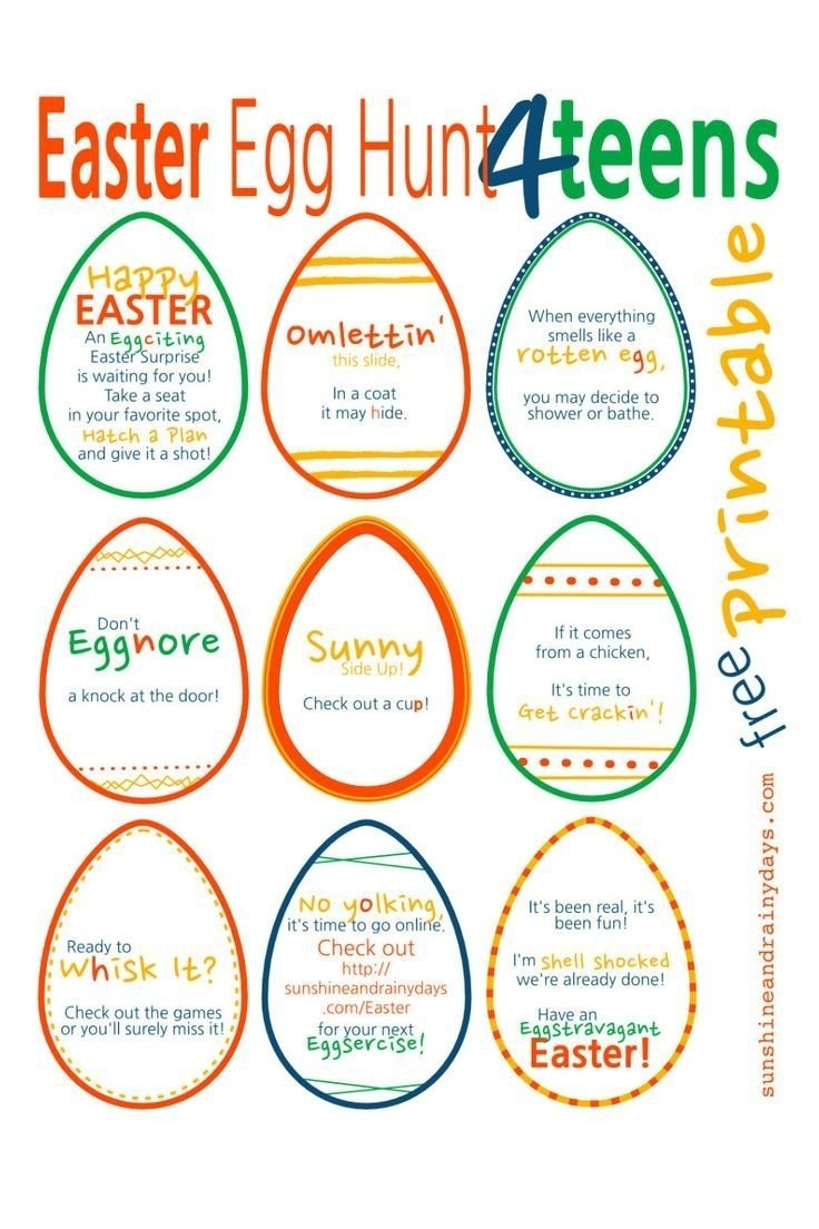 10 Pretty Ideas For Easter Egg Hunt a punny easter egg hunt for teens easter teen and egg 1 2021