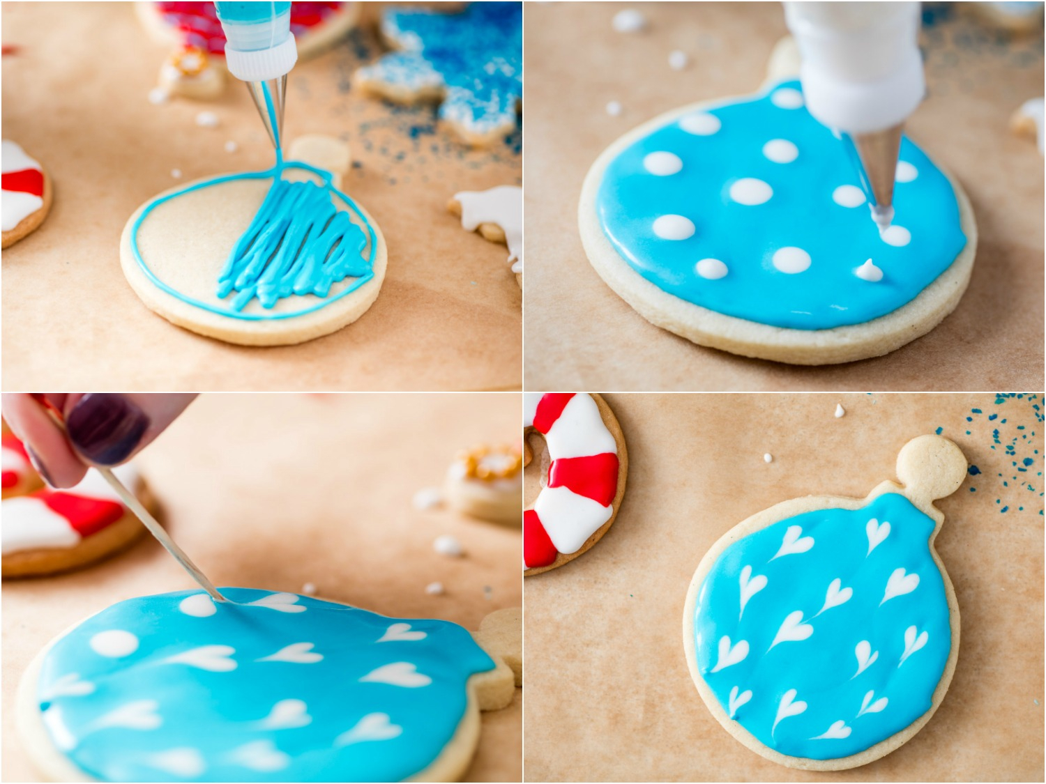 10 Amazing Easy Sugar Cookie Decorating Ideas a royal icing tutorial decorate christmas cookies like a boss 2021