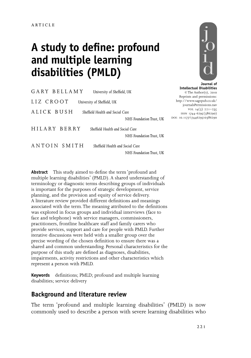 10 Awesome Idea Definition Of Learning Disability a study to define profound and multiple pdf download available 2021