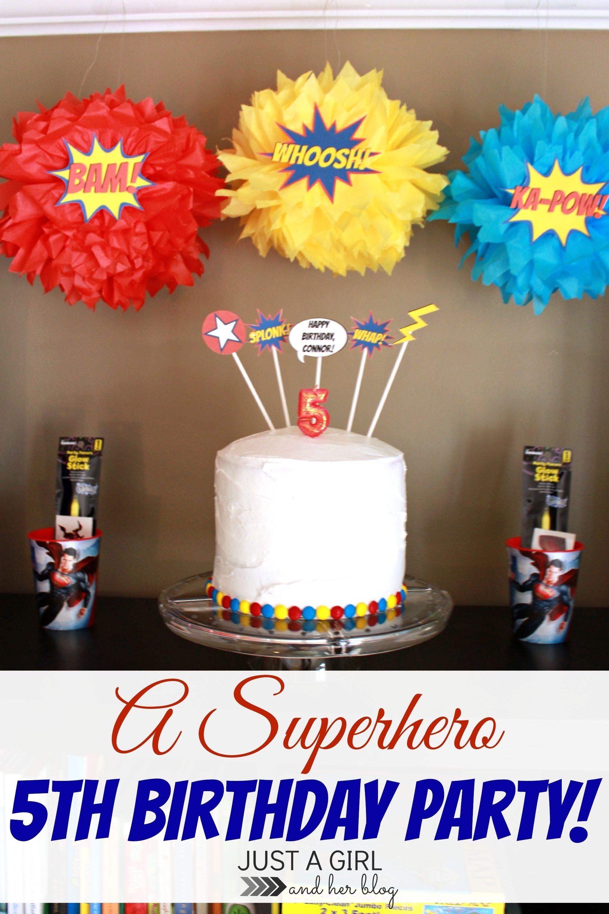 10 Attractive Girls 5Th Birthday Party Ideas a superhero 5th birthday party superhero birthday party superhero 2020
